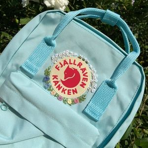Embroidered Kanken Classic Mini Backpack